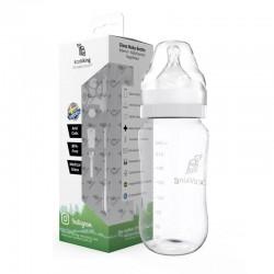 Eco Viking Antykolkowa Butelka Szklana Szeroka dla Niemowląt 240 ml