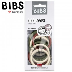BIBS LOOPS - SAND / GREEN HUNTER / RUST 12 PACK