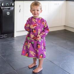 BLW Tidy Tot Coverall Bib Plum Purple śliniak fartuszkowy długi z kieszonką