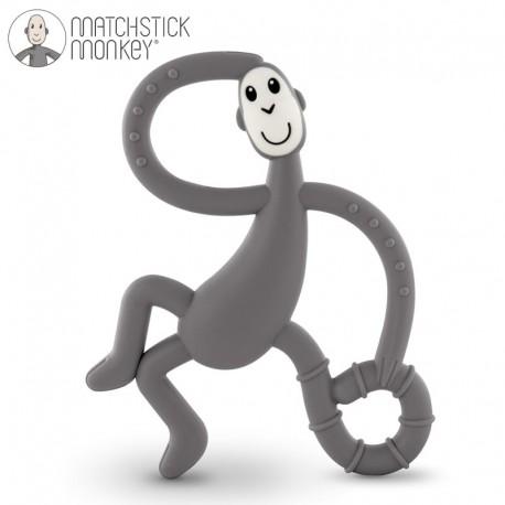 Matchstick Monkey Dancing Grey Terapeutyczny Gryzak Masujący ze Szczoteczką