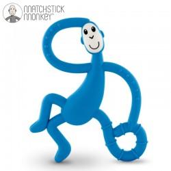 Matchstick Monkey Dancing Blue Terapeutyczny Gryzak Masujący ze Szczoteczką