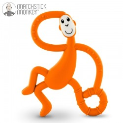 Matchstick Monkey Dancing Orange Terapeutyczny Gryzak Masujący ze Szczoteczką