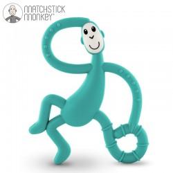 Matchstick Monkey Dancing Green Terapeutyczny Gryzak Masujący ze Szczoteczką