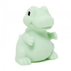 Petit Monkey - Miękka pastelowa lampka nocna LED T-rex miętowy