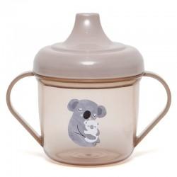 Petit Monkey - transparentny kubek treningowy z ustnikiem Koala