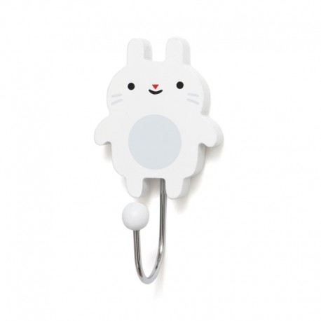 Petit Monkey - Wieszak Little Bunny - white