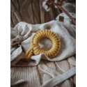 Hi Little One - gryzak sznurkowy Teether wood and cotton mustard