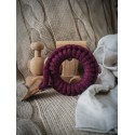 Hi Little One - gryzak sznurkowy Ring Teether wood and cotton Wine