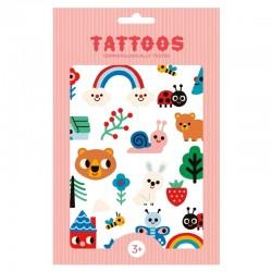 Petit Monkey - Tatuaże zmywalne dla dzieci Tattoo Nature Friends