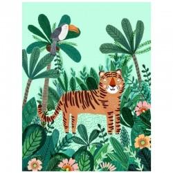 Petit Monkey - Plakat Tiger 70 x 50 cm