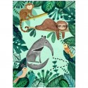 Petit Monkey - Poster Anteater and Sloth 70 x 50 cm