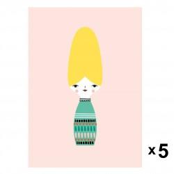 Petit Monkey - 5 zaproszeń urodzinowych Miss Beehive
