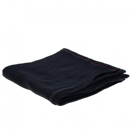 Hi Little One - Oddychający otulacz muślinowy 100 x 100 muslin swaddle Black