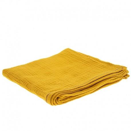 Hi Little One - Oddychający otulacz muślinowy 100 x 100 muslin swaddle Mustard