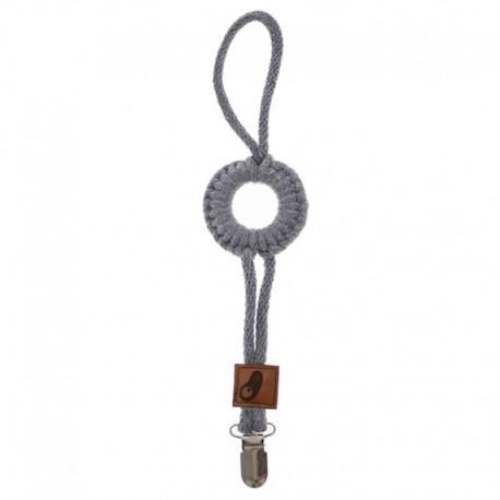 Hi Little One - sznurkowa zawieszka z kółkiem do smoczka Pacifer holder with RING Grey