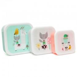 Petit Monkey - 3 śniadaniówki lunchboxy Lama i Przyjaciele