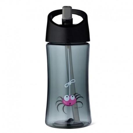 Carl Oscar Transparentny bidon ze słomką 350 ml Grey - Spider