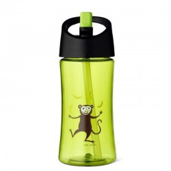 Carl Oscar Transparentny bidon ze słomką 350 ml Lime - Monkey