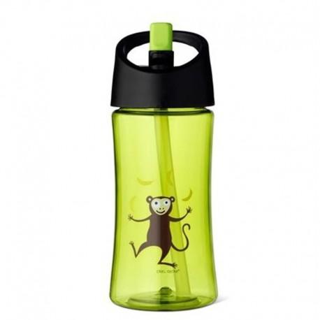 Carl Oscar Transparentny bidon ze słomką 350 ml Lime - Monkey