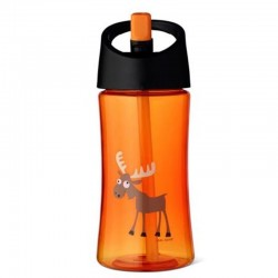 Carl Oscar Transparentny bidon ze słomką 350 ml Orange - Moose