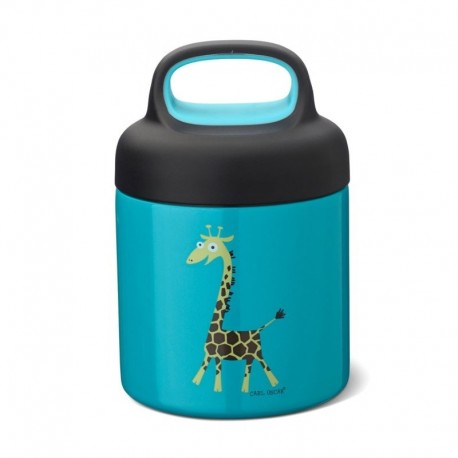 Carl Oscar TEMP Lunch Jar - Termos ze szlachetnej stali nierdzewnej Turquoise - Giraffe