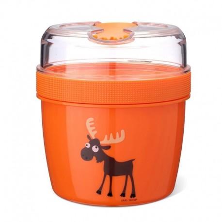 Carl Oscar- N'ice Cup™ L Pojemnik śniadaniowy z wkładem chłodzący Orange - Moose