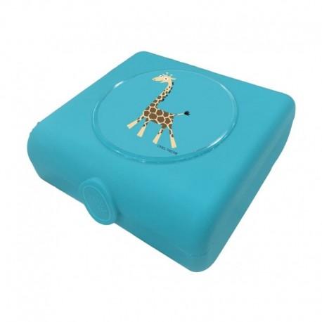 Carl Oscar Kids Sandwich Box Pojemnik na przekąski i kanapki Turquoise - Giraffe