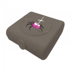 Carl Oscar Kids Sandwich Box Pojemnik na przekąski i kanapki Grey - Spider