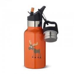 Carl Oscar TEMP Bottle - Butelka termiczna ze słomką ze szlachetnej stali nierdzewnej Orange - Moose