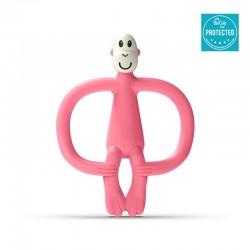 Matchstick Monkey BioCote® Candy Pink Gryzak Masujący ze szczoteczką
