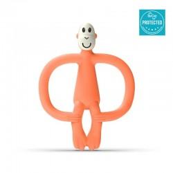 Matchstick Monkey BioCote® Dusty Orange Gryzak Masujący ze szczoteczką