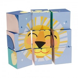 Petit Monkey - Oh Shiny day - klocki puzzle 9 elementów