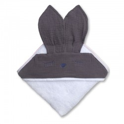 Hi Little One - Ręcznik z kapturem 100 x 100 SLEEPY BUNNY hooded bath towel Iron