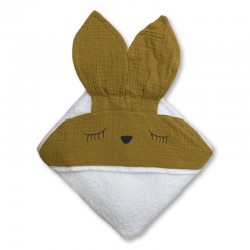 Hi Little One - Ręcznik z kapturem 100 x 100 SLEEPY BUNNY hooded bath towel St