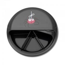 Carl Oscar Small SnackDISC™ 5 komorowy obrotowy pojemnik na przekąski Grey - Spider