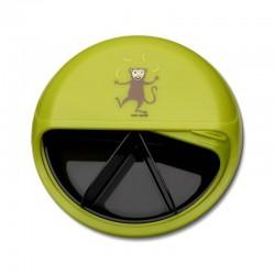 Carl Oscar Small SnackDISC™ 5 komorowy obrotowy pojemnik na przekąski Lime - Monkey