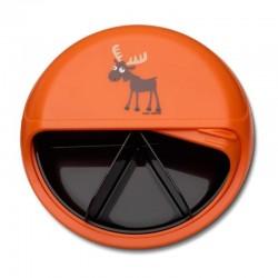 Carl Oscar Rotable SnackDISC™ 5 komorowy obrotowy pojemnik na przekąski Orange - Moose