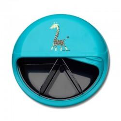 Carl Oscar Rotable SnackDISC™ 5 komorowy obrotowy pojemnik na przekąski Turquoise - Giraffe
