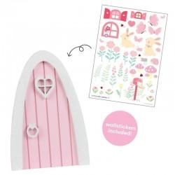 A Little Lovely Company - Różowe Wróżkowe Drzwi do Ogródu Wróżek