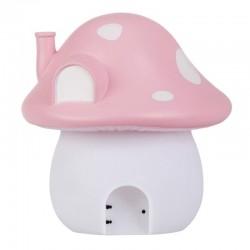 A Little Lovely Company - Duża Lampka Różowy Grzybkowy Domek Wróżek - Ogród wróżek