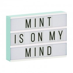 A Little Lovely Company - Lampa Lightbox LED A4 Mint