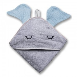 Hi Little One - Ręcznik z kapturem 100 x 100 SLEEPY BUNNY hooded bath towel Dark Oak Light