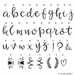A Little Lovely Company - Litery do Lightboxa zestaw Script