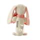 Maud N Lil Grzechotka organiczna miękka z BIO bawełny GOTS Rose The Bunny Stick Rattle