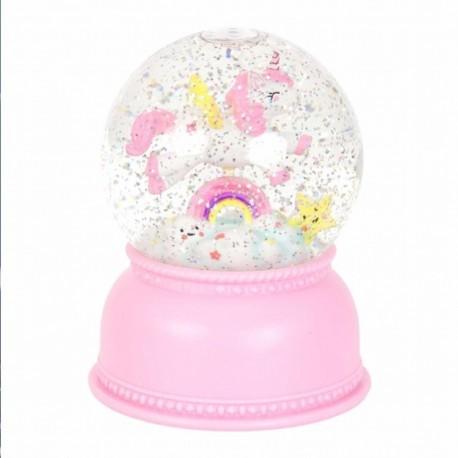 A Little Lovely Company - Świecąca kula śnieżna Jednorożec