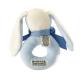 Maud N Lil Grzechotka organiczna miękka z BIO bawełny GOTS Oscar the Bunny Ring Rattle