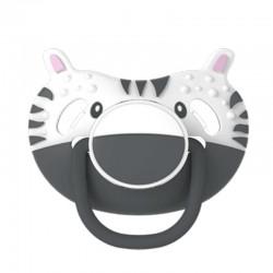 Dumforter 3in1 smoczek z gryzakiem + kocyk przytulanka Zebra ZsaZsa