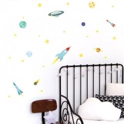 A Little Lovely Company - Naklejki ścienne Kosmos