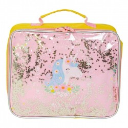 A Little Lovely Company - TERMO lunchbox GLITTER Jednorożec
