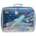 A Little Lovely Company - Lśniąca walizeczka GLITTER Kosmos